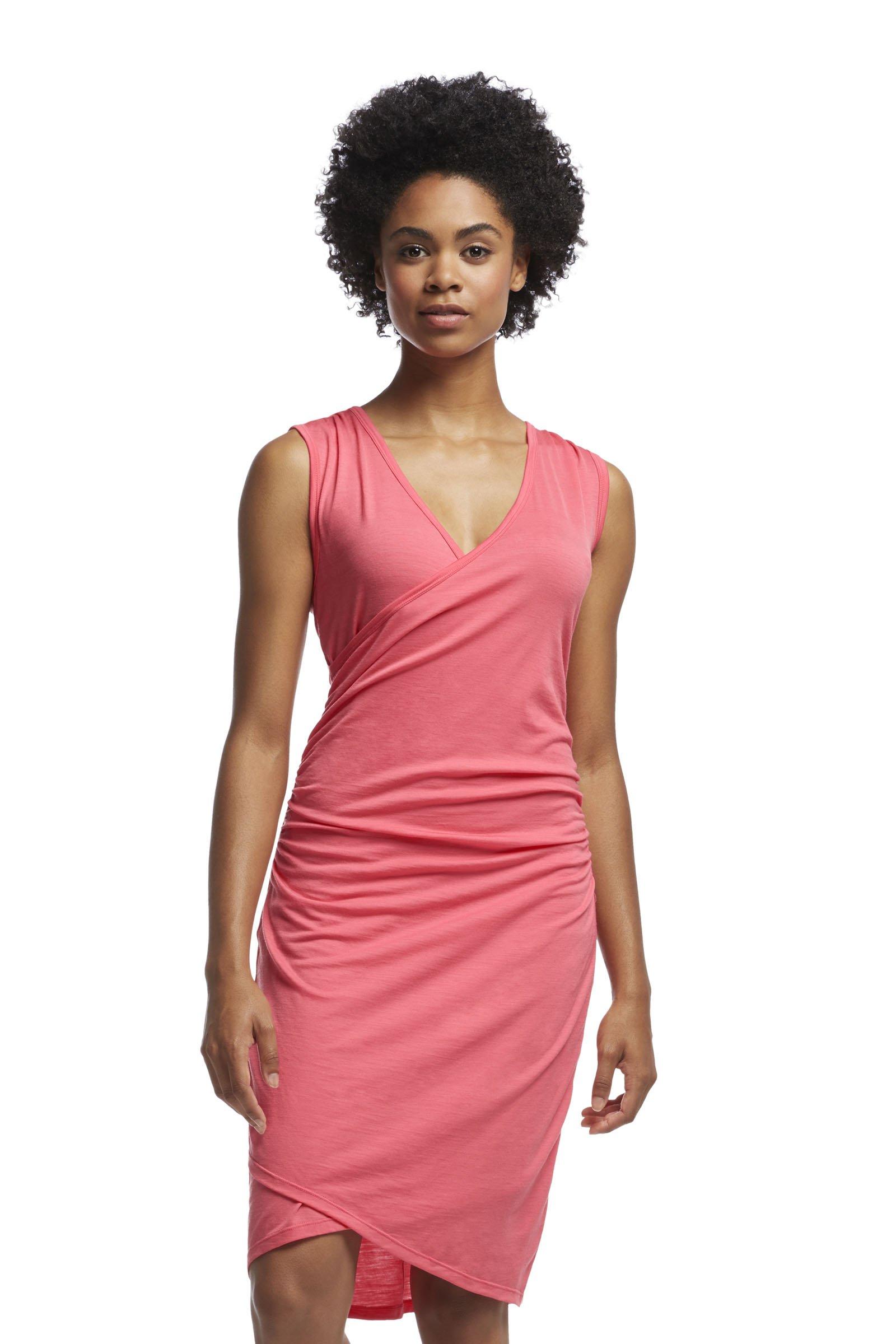 Icebreaker Women's Aria Tank Dress, Medium, Grapefruit