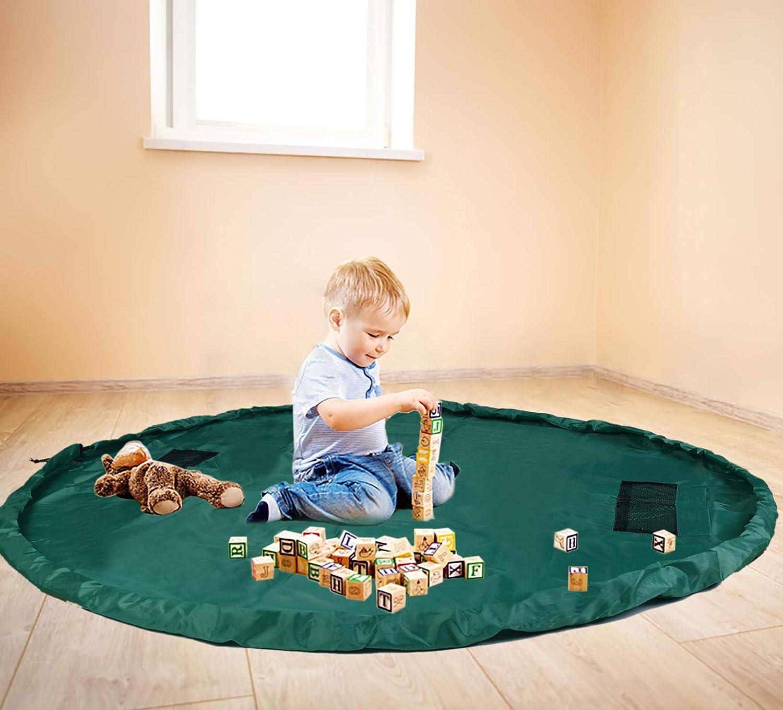 Bolsa de almacenamiento de juguetes ni/ños el suelo y organizador de juguetes para casa y al aire libre port/átil para bloque de construcci/ón Lego