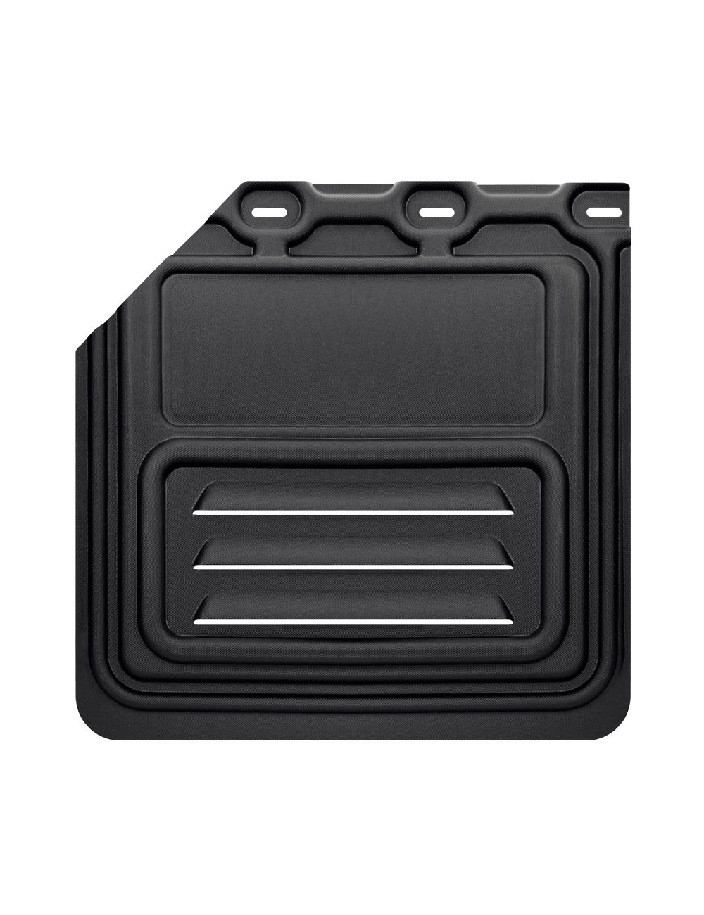 1 Pair Mud Flap for Semi Truck /& Semi Trailer 24 x 24 No Cut Aero HD Black 2 pcs AT Clutches