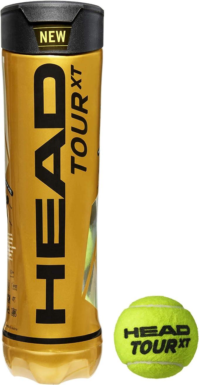 Head Cajon Pelotas Tenis Tour XT 18X4: Amazon.es: Deportes y aire ...