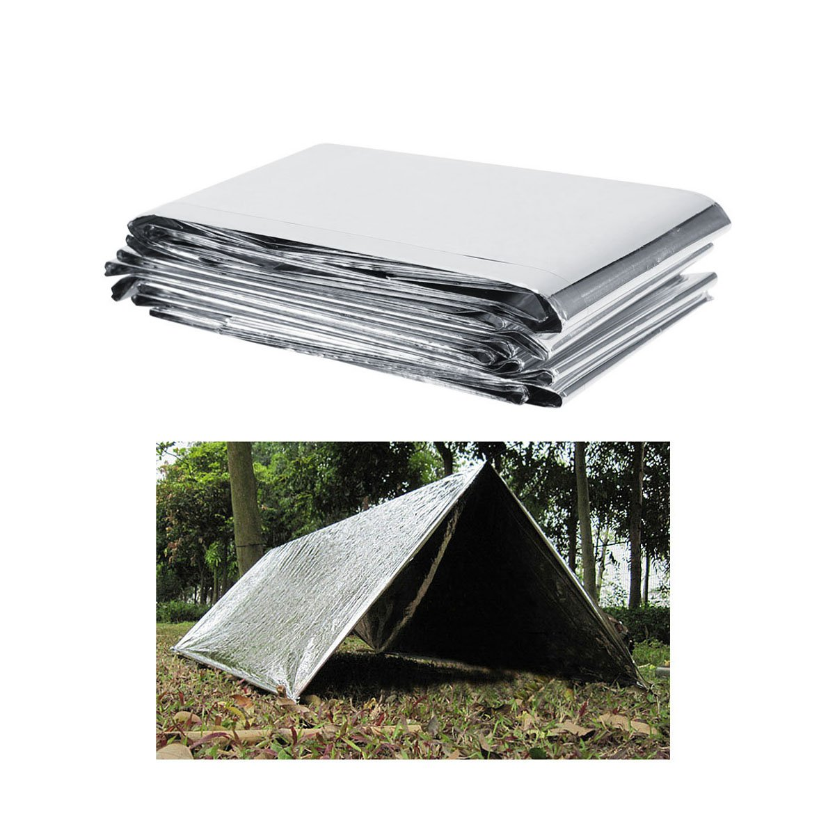 iiniim Silver Plant Reflective Film, 84 x 56 Inch Garden Greenhouse Covering Foil Sheets Effectively Increase Plants Growth YD-10052154-UK