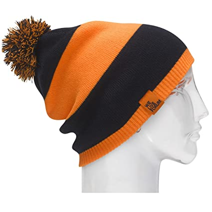 Forum Gorros Stripes Beanie, Unisex, Blue up Agent Orange, Talla ...