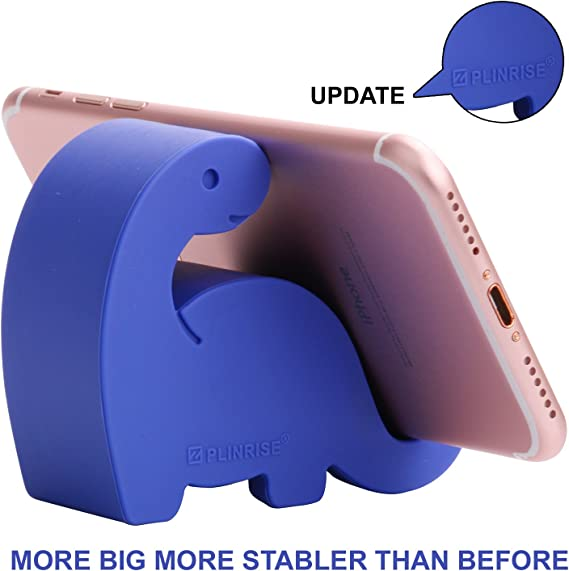 Creative Phone Tablet Stand Mounts Black Plinrise Animal Desk Phone Stand Size:1.3 X 3.1 X 2.8 Update Dinosaur Silicone Office Phone Holder