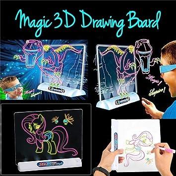 Dibujar con Luz Juguetes,Tablero De Dibujo Mágico 3D Tablero De ...