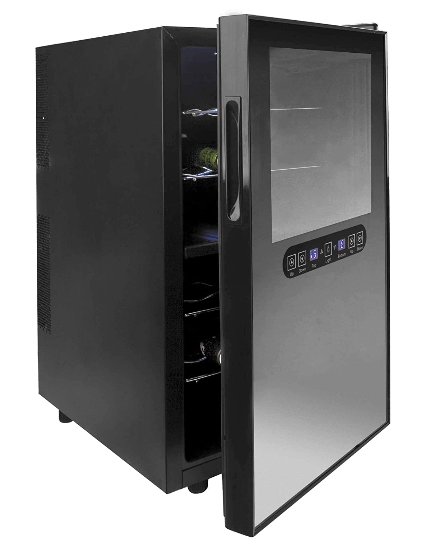 Lacor - 69072 - Armario refrigerador 28 Botellas Inox Line 80w ...