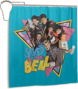 Eliphs Saved by The Bell Shower Curtains Bathroom Decor Waterproof Polyester Fabric Bath Curtain 66 X 72 in with 12 Plastic Hooks