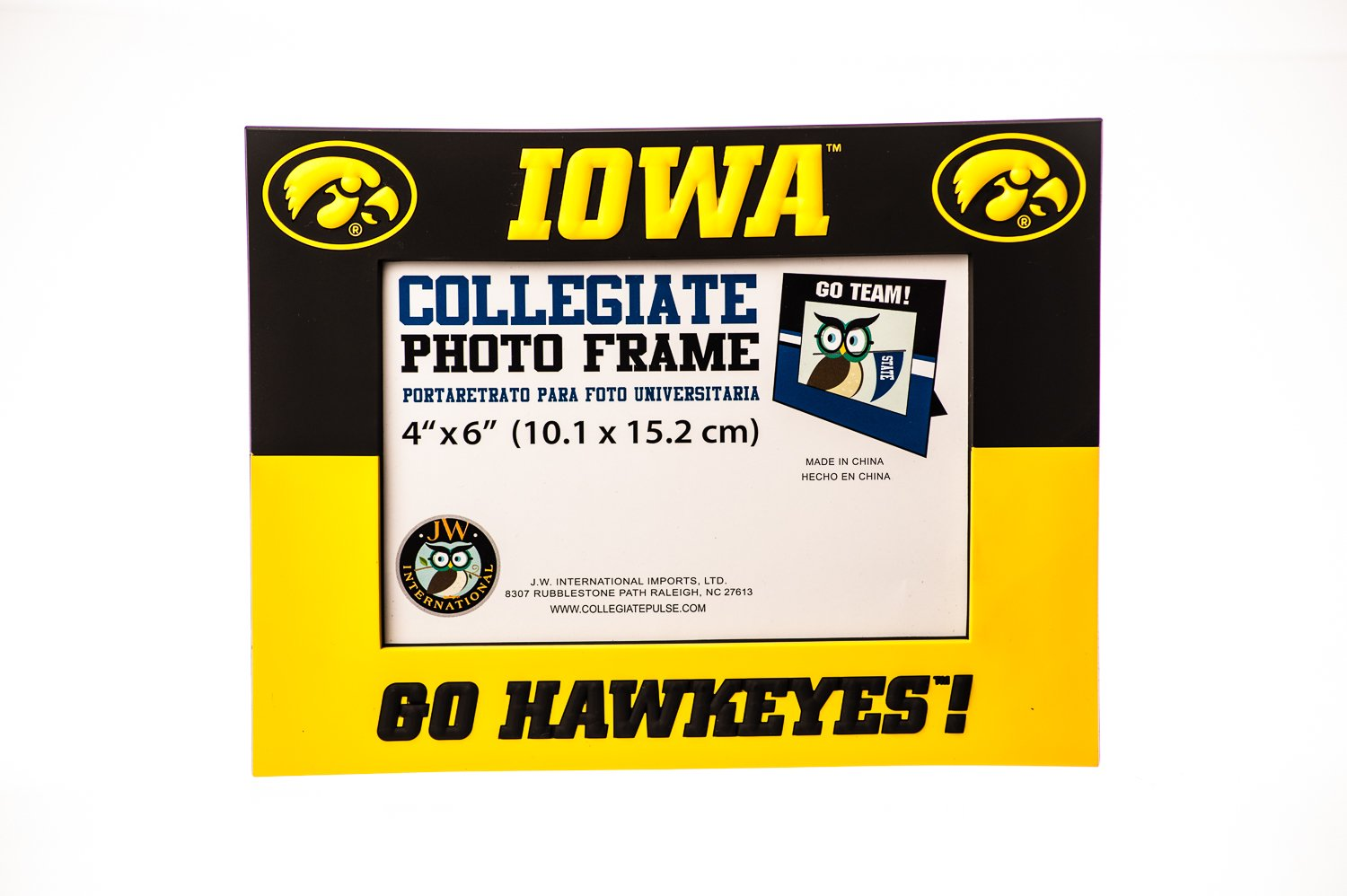 Amazon.com : Collegiate Pulse Iowa Hawkeyes NCAA PVC Photo Frame : Sports & Outdoors