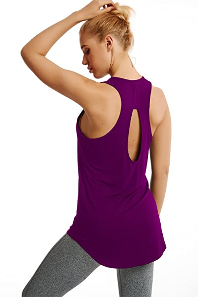 890025262b1 Duppoly Women Tank Tops Loose Fit Tunic Sexy Clubbing Tops Fast Dry Barre T  Shirt Cute