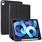 Arae for iPad Air 4 Generation 10.9 Case (2020) Auto Wake / Sleep Feature Standing Cover, Black