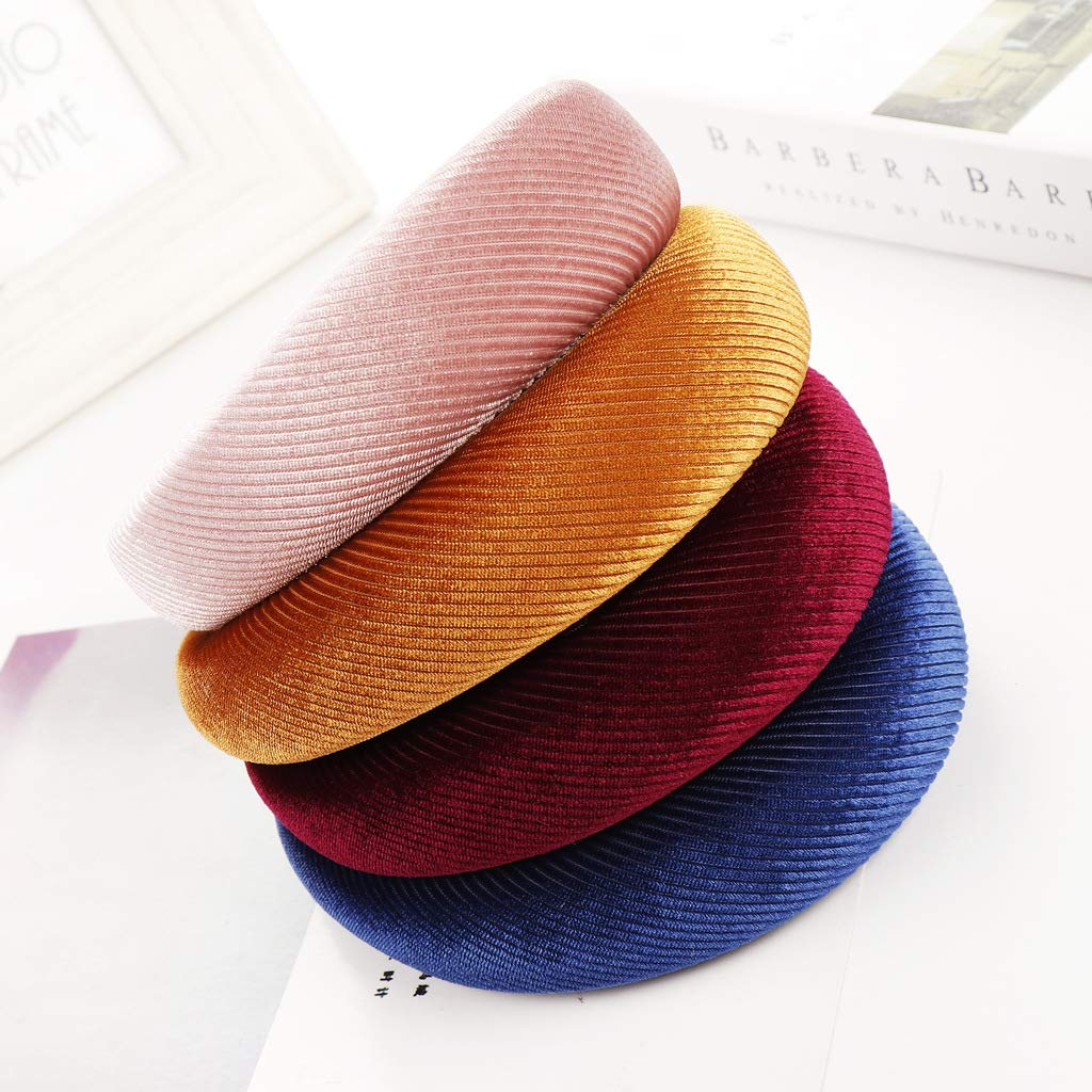 Rongzou Hair Hoop 8 Colors Korean Lady Padded Wide Sponge Headband Twill Striped Retro Party Gifts