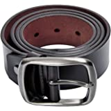 Kingstar Men's Brown Leather Casual Jean Belt,38mm Smooth Reversible Ratchet bridle Dress belts with Adjustable Single-prong Buckle
