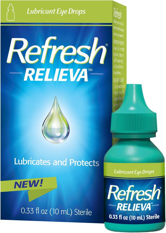 Refresh Relieva Lubricant Eye Drops, 0.33 Fl Oz (10ml) Sterile