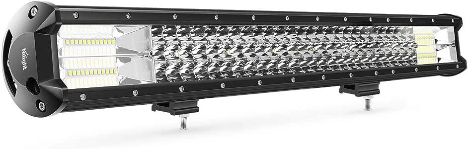Barra de luz LED Nilight, 1PC 26Inch Triple Row Lights, 1PC 26Inch Triple Row Lights