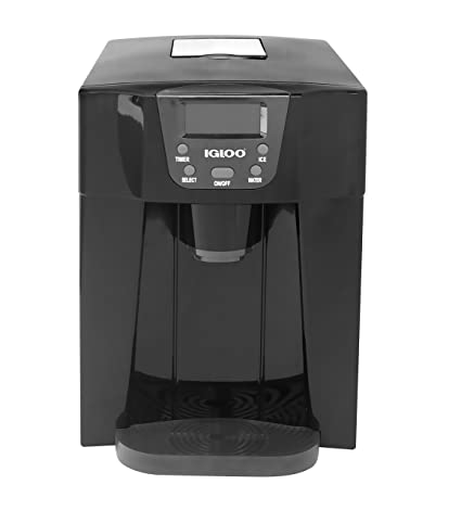 Igloo ICE227 Black Compact Ice Maker And Water Dispenser, Black