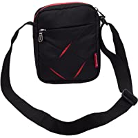 COSMUS Polyester Fabric Black Messenger Bag