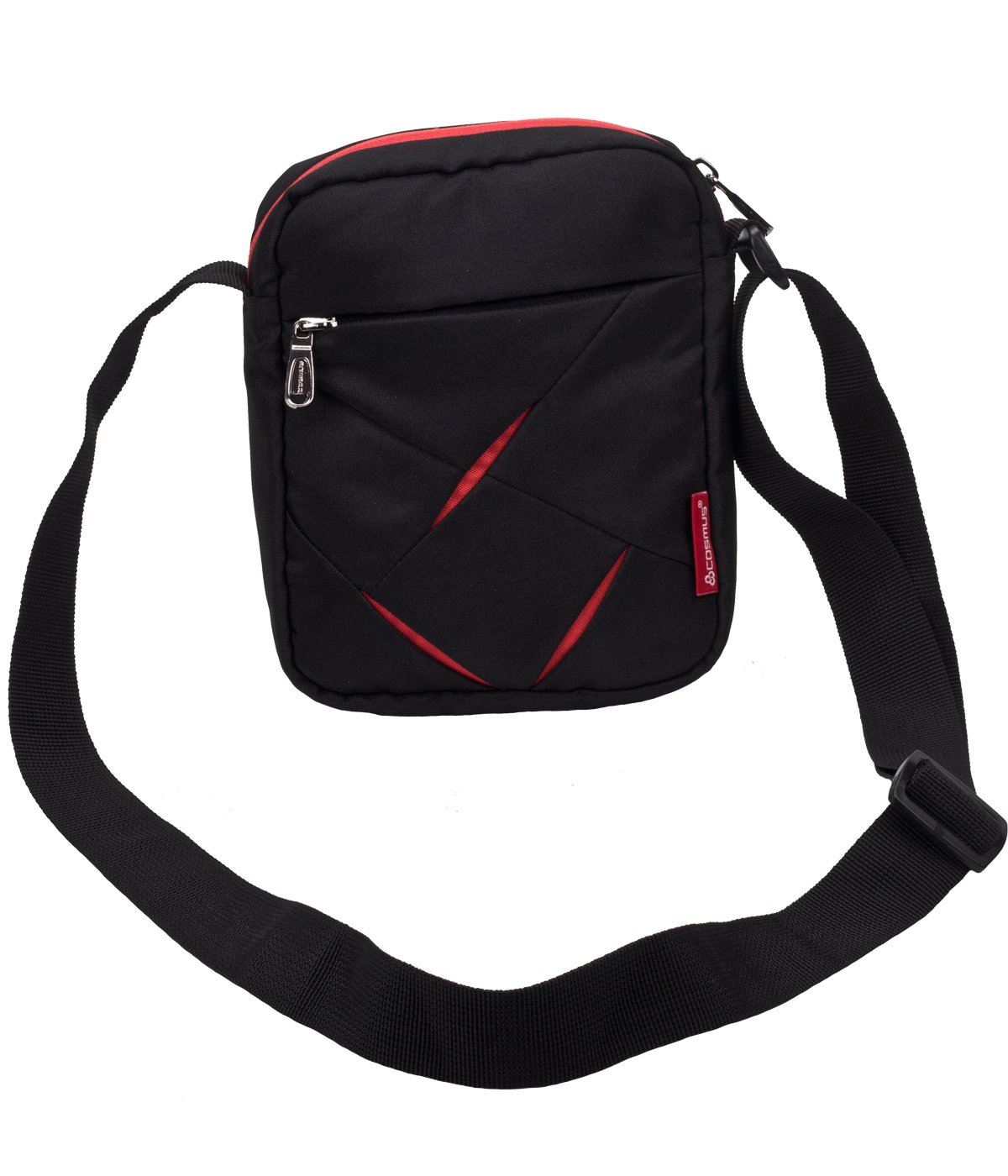 Small Sling Bag for Men - Cosmus Index-Small Bag for Mobile & Wallet- Black & Red product image