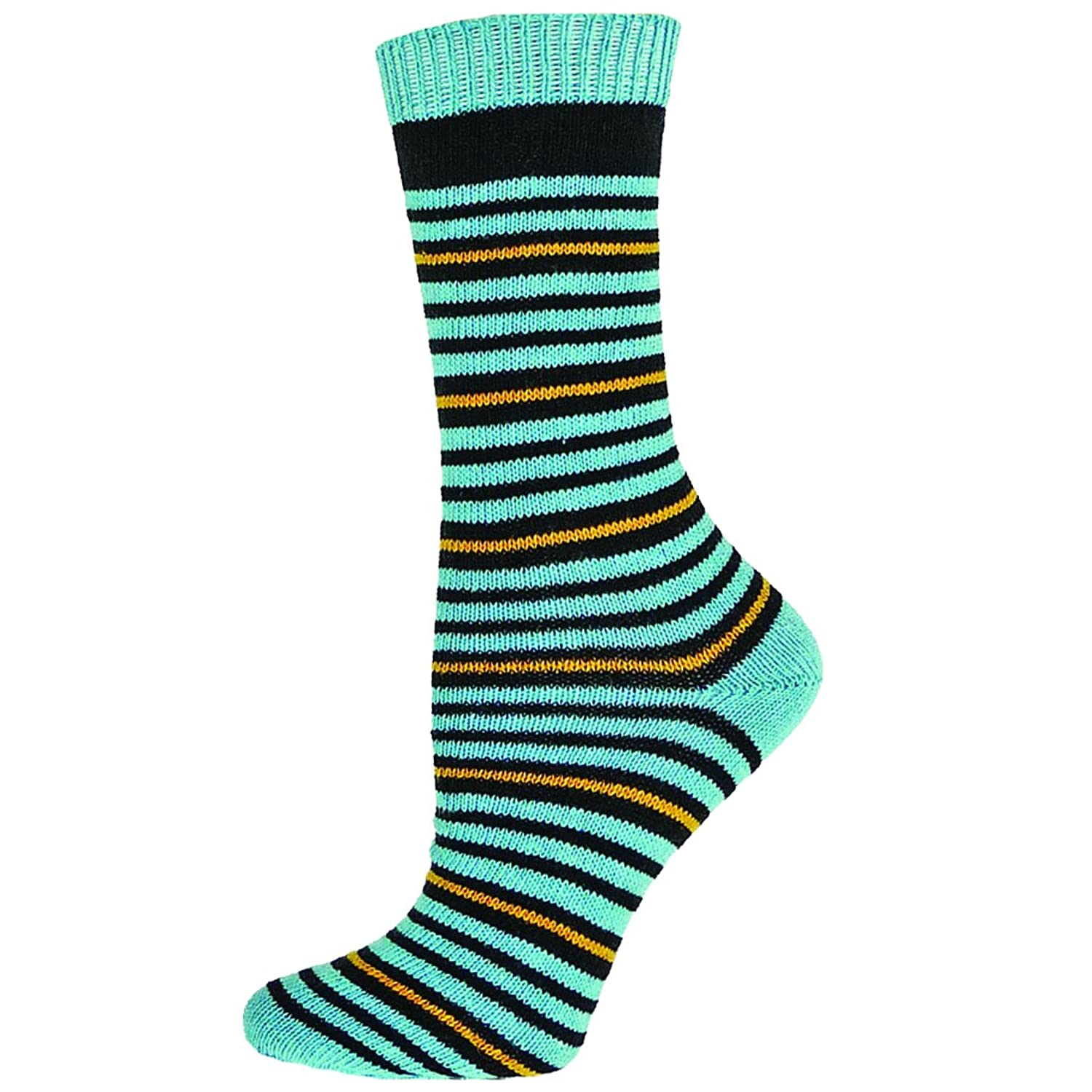 E.G. Smith Colorblock Stripe Recycled Cotton Crew Socks
