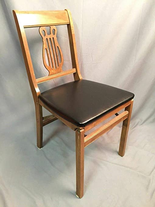 Vintage Wooden Folding Chairs.Amazon Com Stakmore Folding Chair Vintage Wood Seating