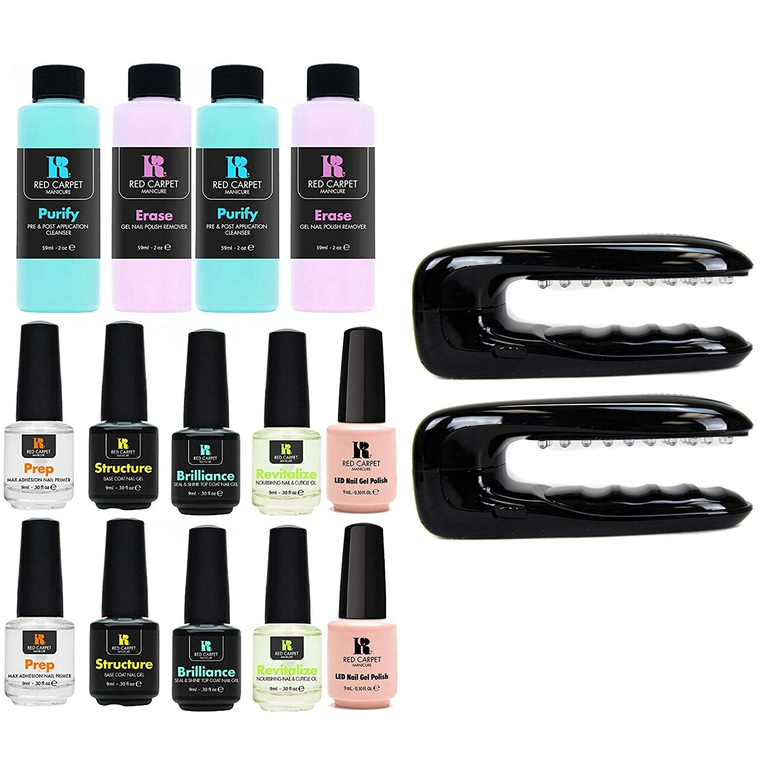 Nail Polish Package: Red Carpet Manicure LED Package Soak Off Gel Nail Polish
