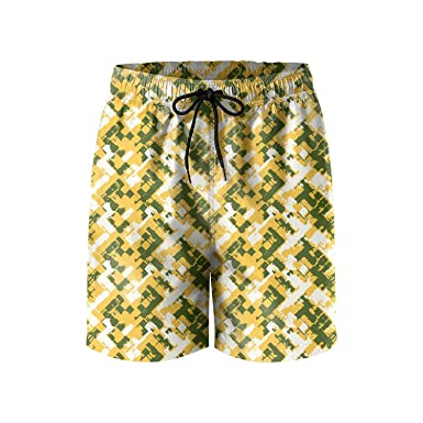KHJGHYG Mens Camouflage Army Graphic Polyester Quick Dry Athletic Beach Shorts