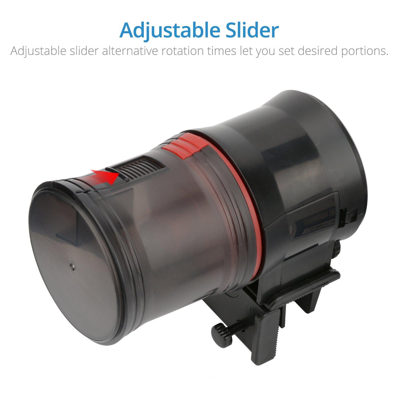 NICREW Alimentador Automático para Acuario Multifuncional con Pantalla LCD y el Tiempo de Alimentación, Fish Tank Fish Food Auto Comederos ...