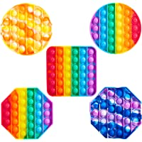 Push Pop Bubble Fidget Sensory Toy Special Needs Anxiety Stress Reliever for Kids (5Pcs)
