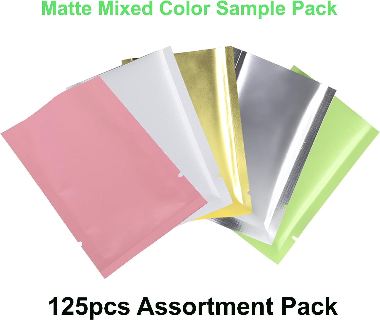 "100 Glossy Royal Blue Flat Aluminum Mylar Foil Zip Lock Bags 6x9cm 2.4x3.5/"""