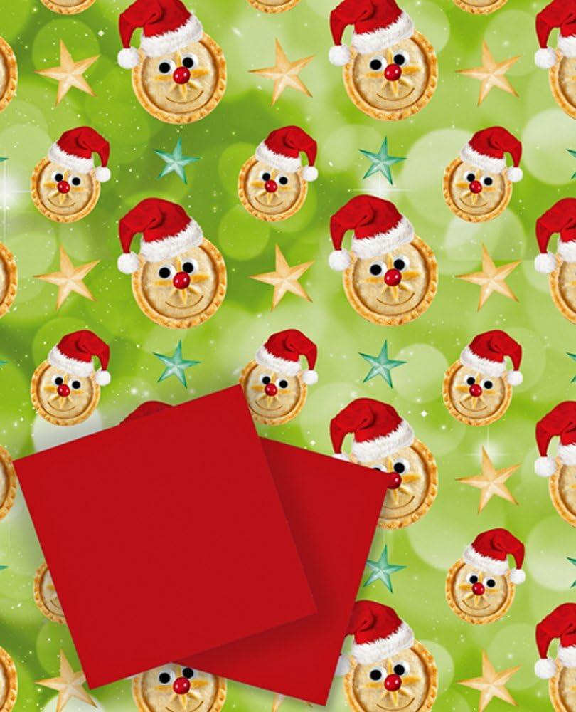 Pasteles y gorros de Papá Noel Navidad regalo pack – 2 hojas y 2 etiquetas): Amazon.es: Oficina y papelería