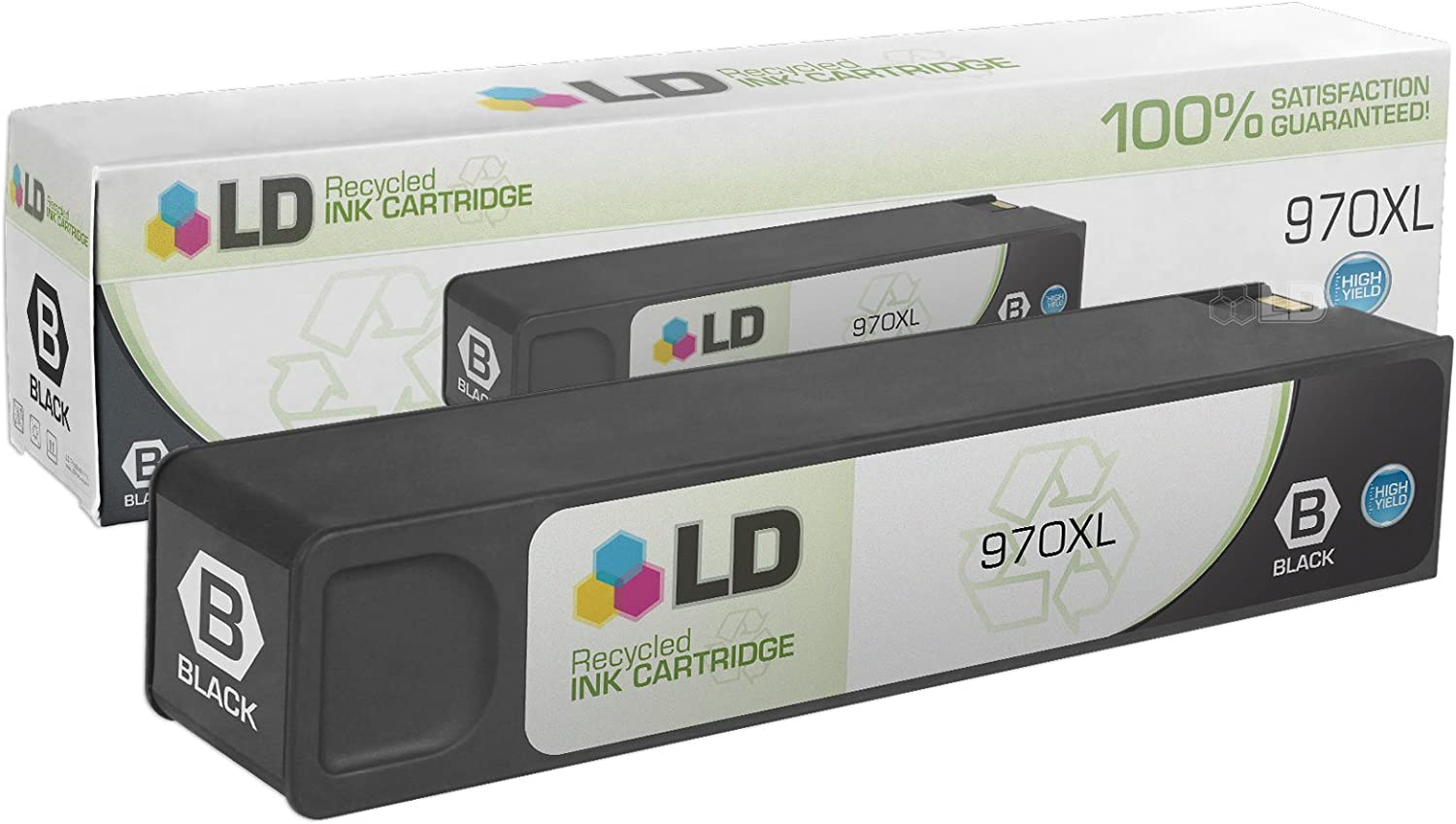 LD Remanufactured Ink Cartridge Replacement for HP 970XL CN625AM High Yield (Black)