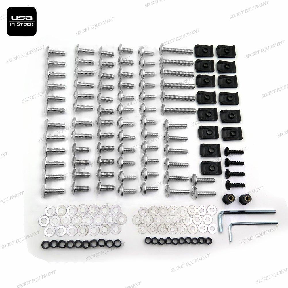 SEMT- Complete Fairing Bolts Kits For Suzuki GSXR 750 00-03 GSXR 1000 01-02 Silver