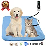 """PetRich Pet Heating Pad, Electric Blanket Heating Pad for Dog Cats Bed Mats Pet Heated Bed Warming Pad Heating Mat Pet Heater with 2 Pack of Removable Covers, 18"""" x 18"""""""