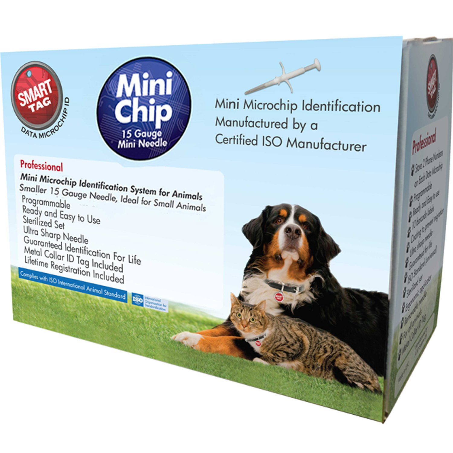 SmartTag ISO Microchip Box with Identification Tag for Pets, Mini by Smart Tag