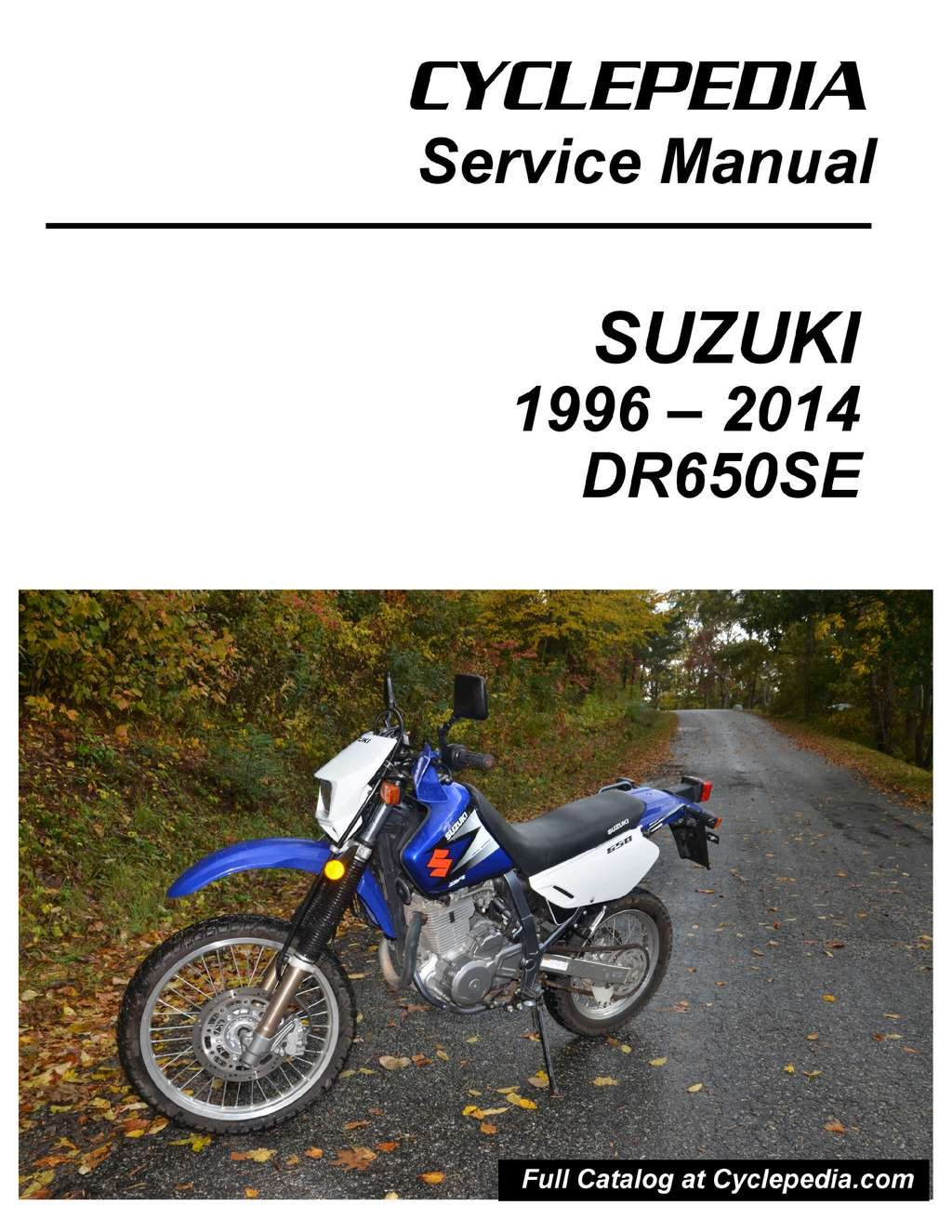 Cpp 175 P Suzuki Dr650se Motorcycle Service Manual Printed Wiring Diagram Cyclepedia Manufacturer Books