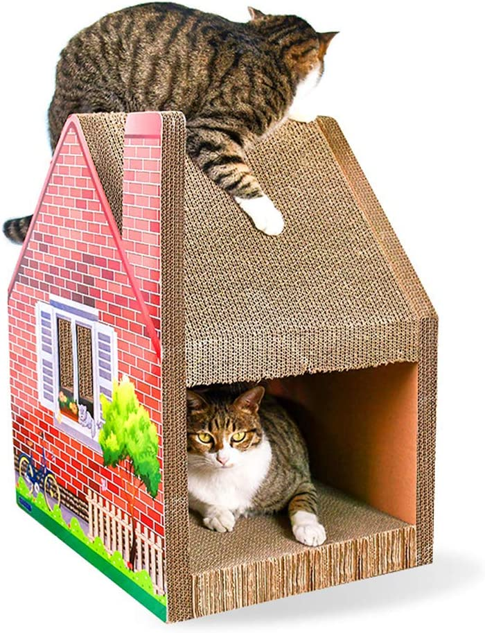 Rascador para Gatos y Gatos cart/ón Corrugado Icegrey