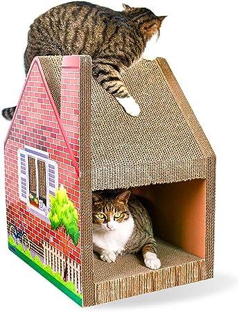 YMGW Árbol Rascador para Gatos con Nidos, Escalador, Casitas para Gatitos - Cartón Corrugado, 365mm x 470mm x 535mm: Amazon.es: Hogar