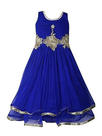 d22fe7857 Aarika Girl s Self Design Net Gown  Amazon.in  Clothing   Accessories