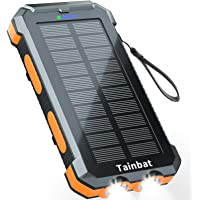 Solar Charger Power Bank, Tainbat 30000mAh Portable Solar Phone Charger Built with Type-C Input & 2 USB Outputs…