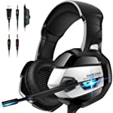 ONIKUMA Gaming Headset - Xbox 360 Headset [2019 K5 Pro] with Noise Canceling Mic &7.1 Surround Bass, Over Ear Gaming Headphon
