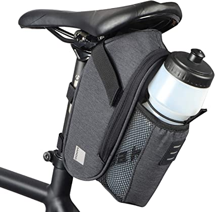 Amazon Com Arcenciel Bike Saddle Bag Waterproof Bicycle Strap On Seat Pack Bag Cycling Wedge Water Bottle Holder Sports Outdoors