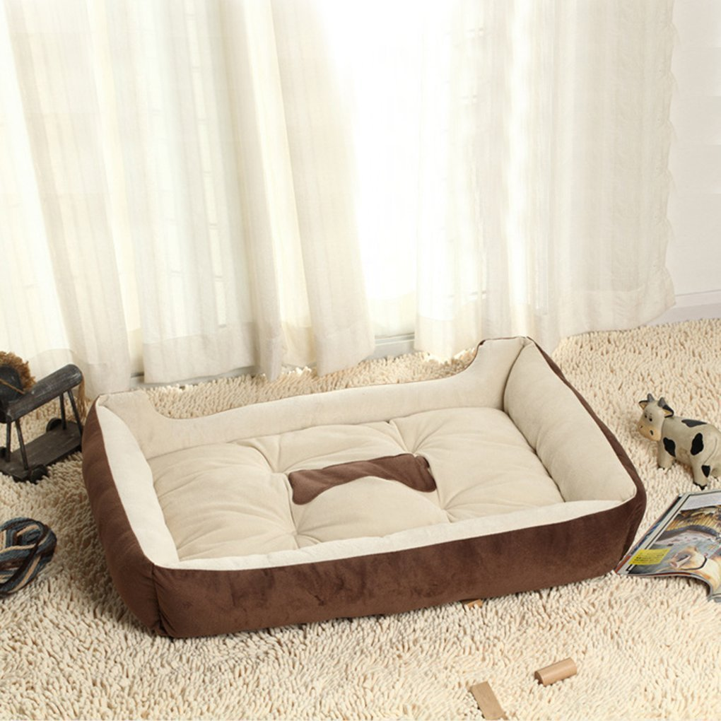 Huihuger Pet Blanket Caldo Morbido Pile Pet Dog Kennel Cat Puppy Bed Mat Pad Cuscino per la casa Marronee XXS- (45  31  15) cm