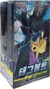 Pokemon Card Sun & Moon Booster Pack Box 30 Packs in 1 Box + 3pcs Premium Card Sleeve Korea Version TCG Tag Bolt: Amazon.es: Juguetes y juegos