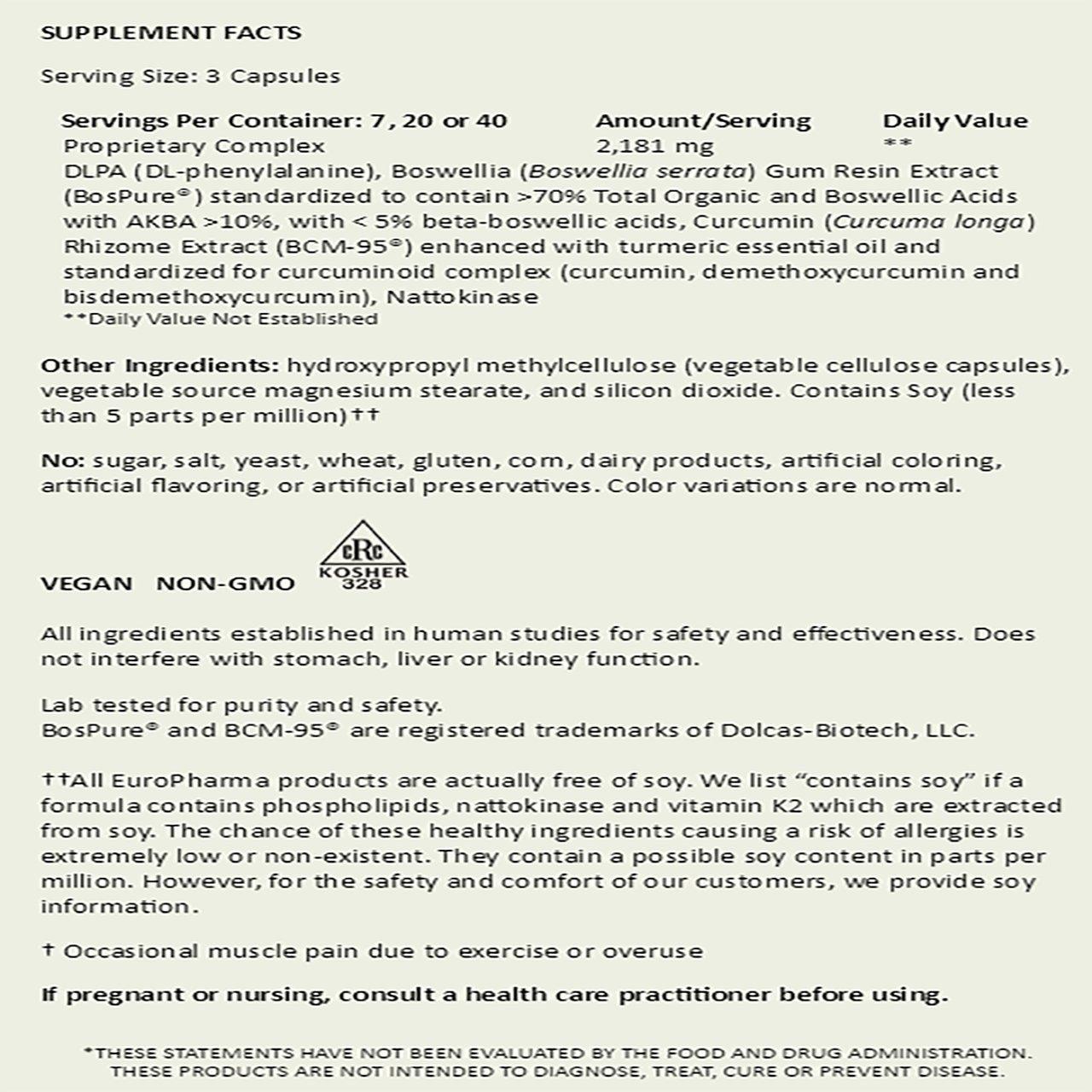 Terry Naturally/Europharma Curamin -120 Capsules -2 Pack