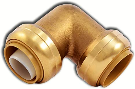 """Push-Fit 1/"""" Sharkbite Style 10 Push to Connect Lead-Free Brass Elbows"""
