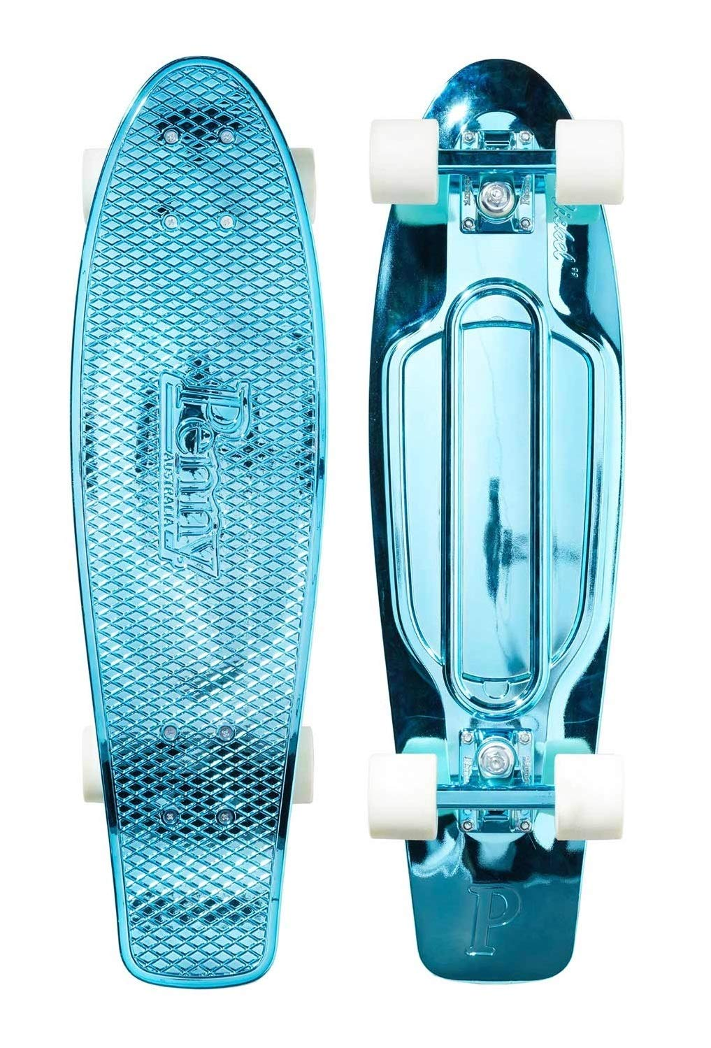 Penny Graphic Skateboard - Blue Metallic Solid 27''