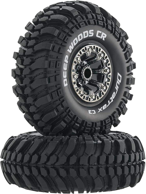 Duratrax DTXC4043 RC Rock Crawler Neumáticos con Inserciones de Espuma, C3 Super Soft Compound, Alta tracción, Maderas Profundas, Cromo Negro, 2.2 ...