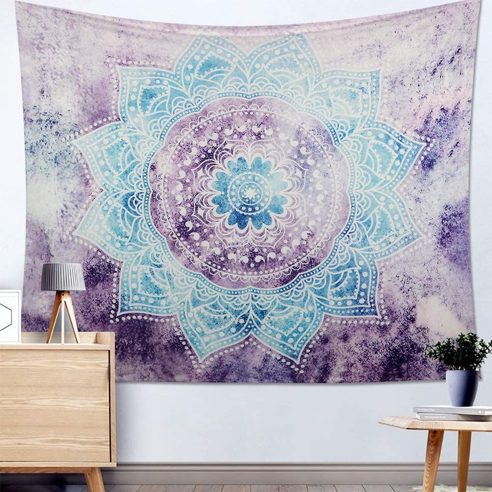 Wall Art Tapestries 36 violet triangles pattern self adhesive removable wallpaper  Wall hangings Home decor Wall decor
