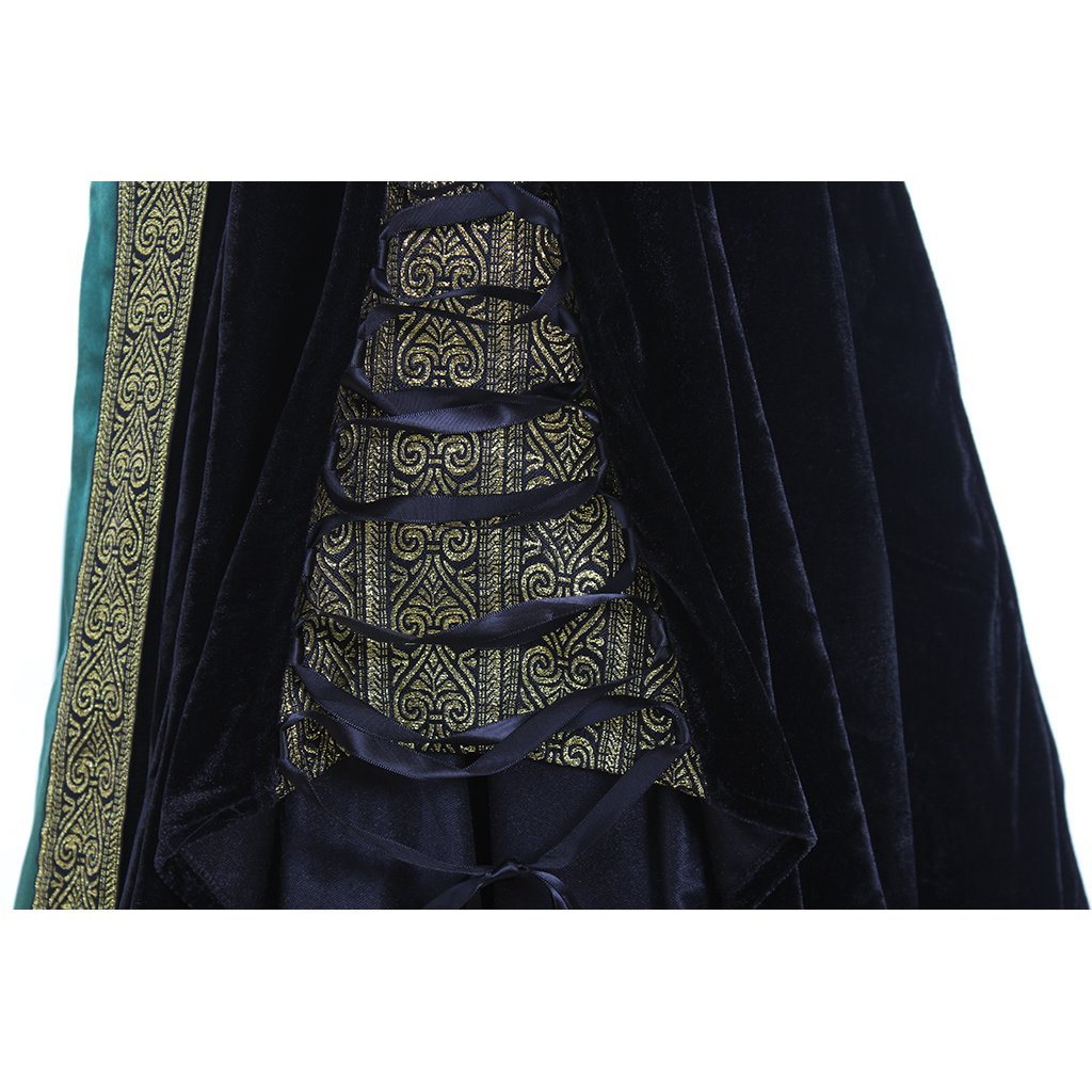 CosplayDiy Women's Medieval Renaissance Retro Gown Cosplay Costume Dress CM Green by CosplayDiy (Image #6)