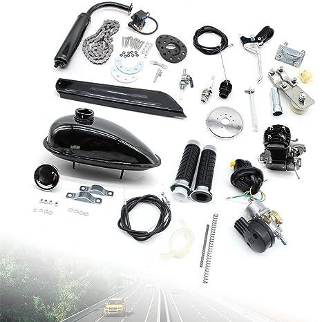oukaning 50 cc de 2 del bicicleta Moteur motorizado Gasolina hilfsmotor Bike Cycle Motor Set: Amazon.es: Coche y moto