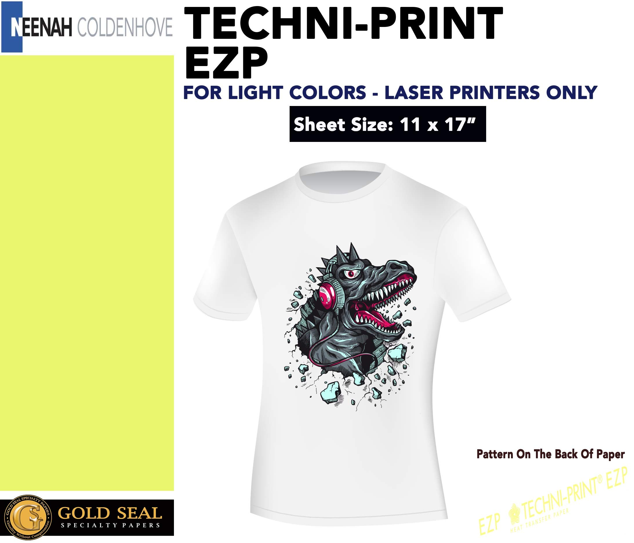 LASER TRANSFER FOR WHITE FABRIC, ''NEENAH TECHNI-PRINT EZP'' (11''X17'') 100Pk :) by Neenah