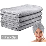 pocova Ultra-Fine Microfiber Hair Drying Towels 44 x 24.5 Inches Thicken Lengthen - Simone&Jerry Original Magic Instant Hair
